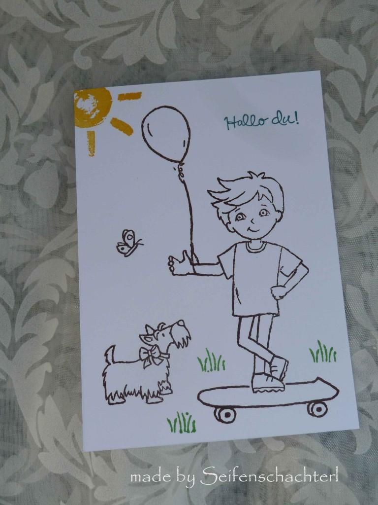 Postkarte-Bub